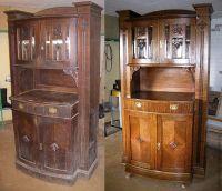 Шкаф (сервант) до и после реставрации