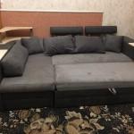 угловой диван Микровелюр после рестоврации