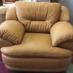 Кожаное кресло после реставрации