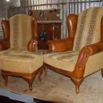 Кресла после смены обивки